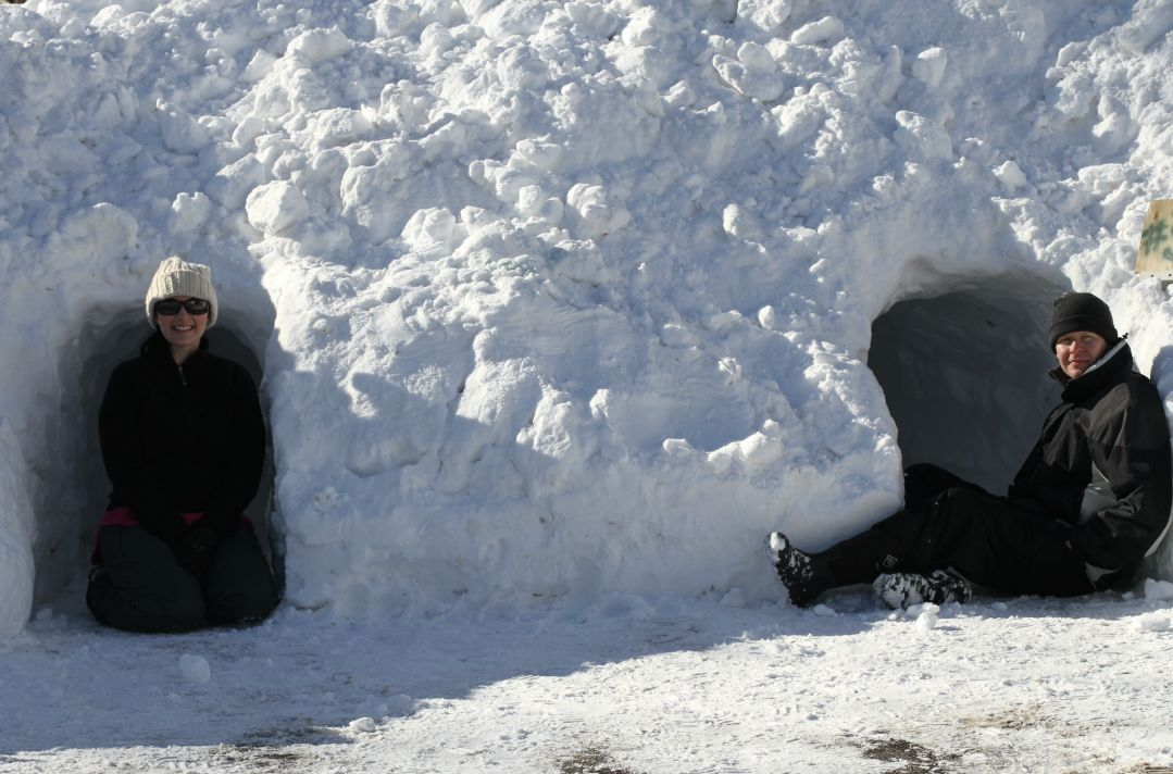 making a snow cave