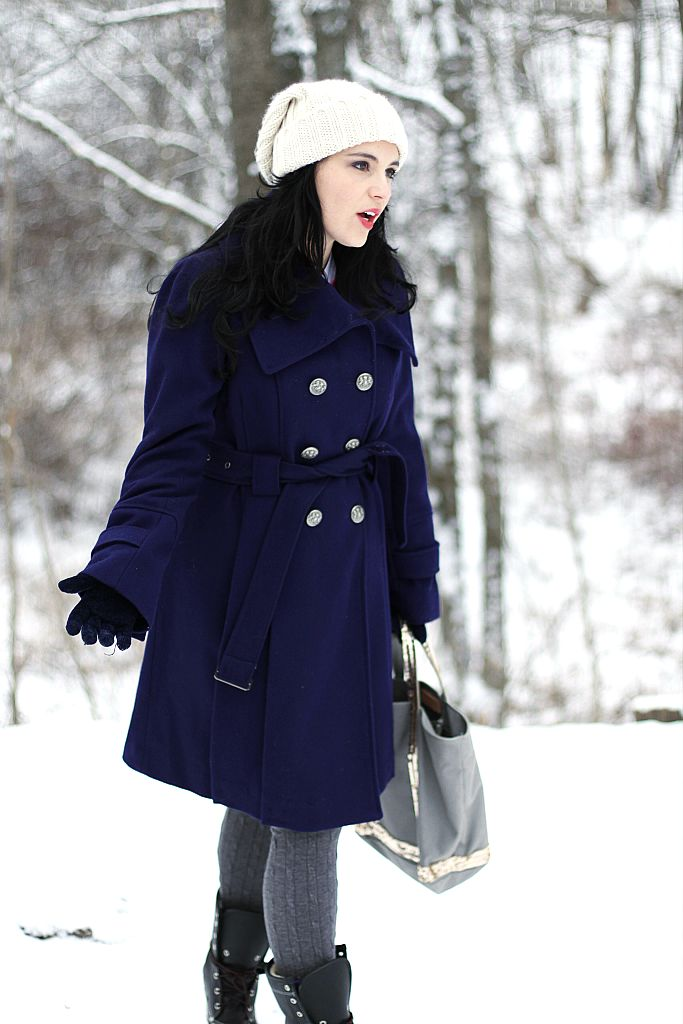 Guess purple peacoat