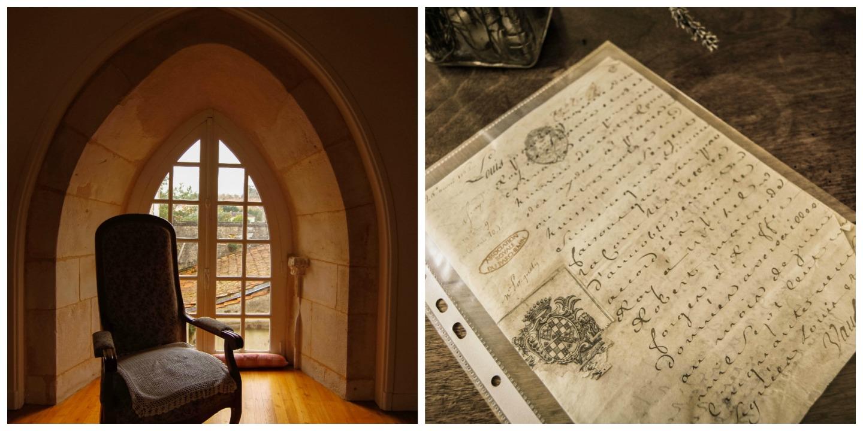 chateau de ruffec  Letter by Louis XV