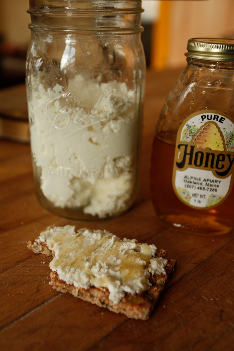 Goat cheese and honey