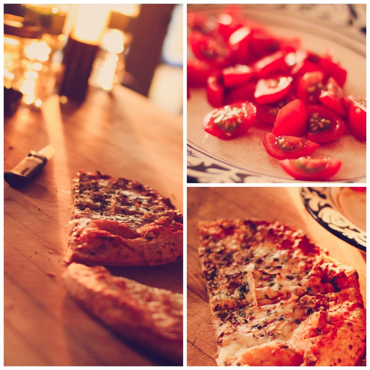 Organic pizza and oh my goodness good tomatoes!