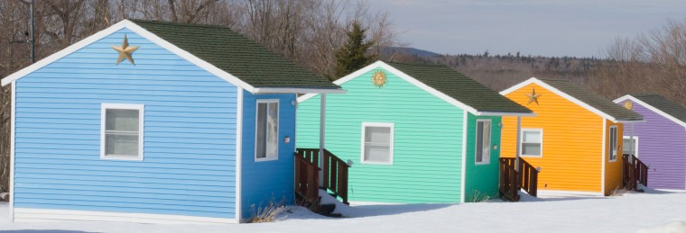 colored cottages