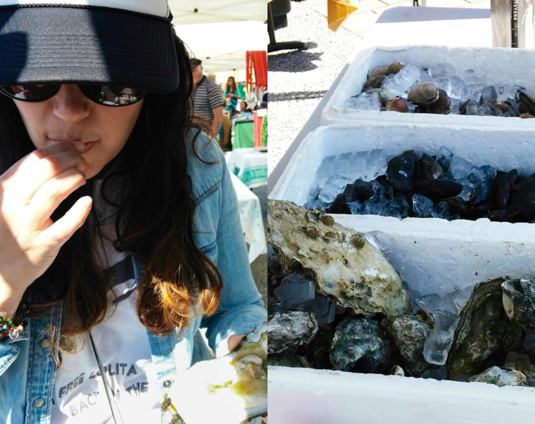 oysters at the San Juan Island market